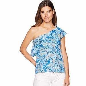 Lilly Pulitzer | Matteo one Shoulder Top | Size L